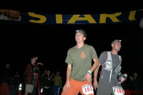 Dylan at the finish line during last year's Leadville 100.