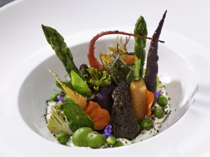 Spring Vegetable Salad at Montagna
