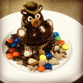 Little Nell Pastry Chef Danielle Riesz's adorable black bear cupcake, which is given as an amenity to all kids staying at the hotel.