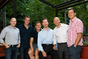 Just a few of the Master Somms (all grads of The Little Nell) at the 2012 Food and Wine Classic.