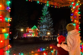 The Sardy House Tree Lighting on Dec. 1, 2013. An Aspen tradition.  Photo: Jeremy Swanson
