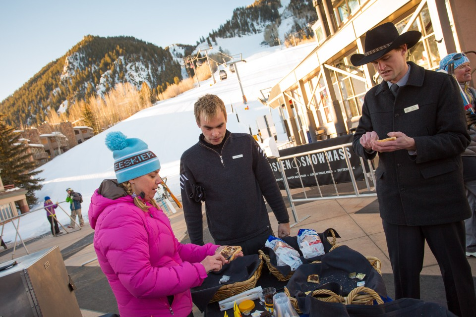 The Ski Concierge aren't sure if they should eat the Vegemite or not...